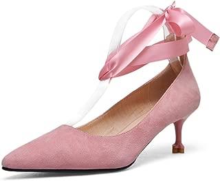 Nine Seven Women's Leather Pointtoe Heel Lace Pump