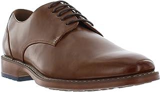 جورجيو بروتيني أشر فستان أكسفورد أسود وبني للرجال، حذاء جلدي بتصميم بسيط لأصابع القدم