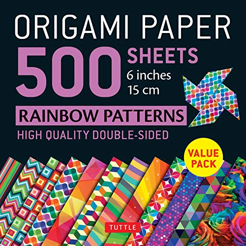 Origami Paper 500 sheets Rainbow Patterns 6""