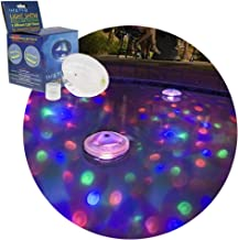 Lianqi waterproof LED swimming pool light different lighting color multiple modes, floating in the water underwater night light show Disco party, swimming pool, baby bath