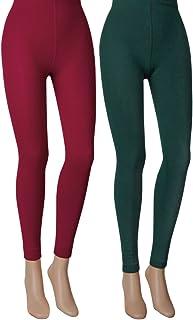 Vitasox Damen Thermo Leggings mit Innenfleece 2 Stück