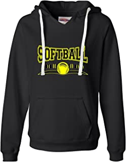 Go All Out Womens Softball Cool Design Fastpitch Deluxe Soft Hoodie