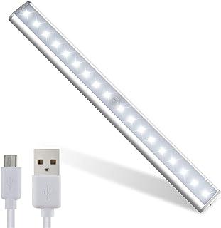 LED Closet Light,Motion Sensor Cabinet Lights,USB Rechargeable,14 LED Portable for Closet Cabinet Wardrobe Stair Step Kitc...