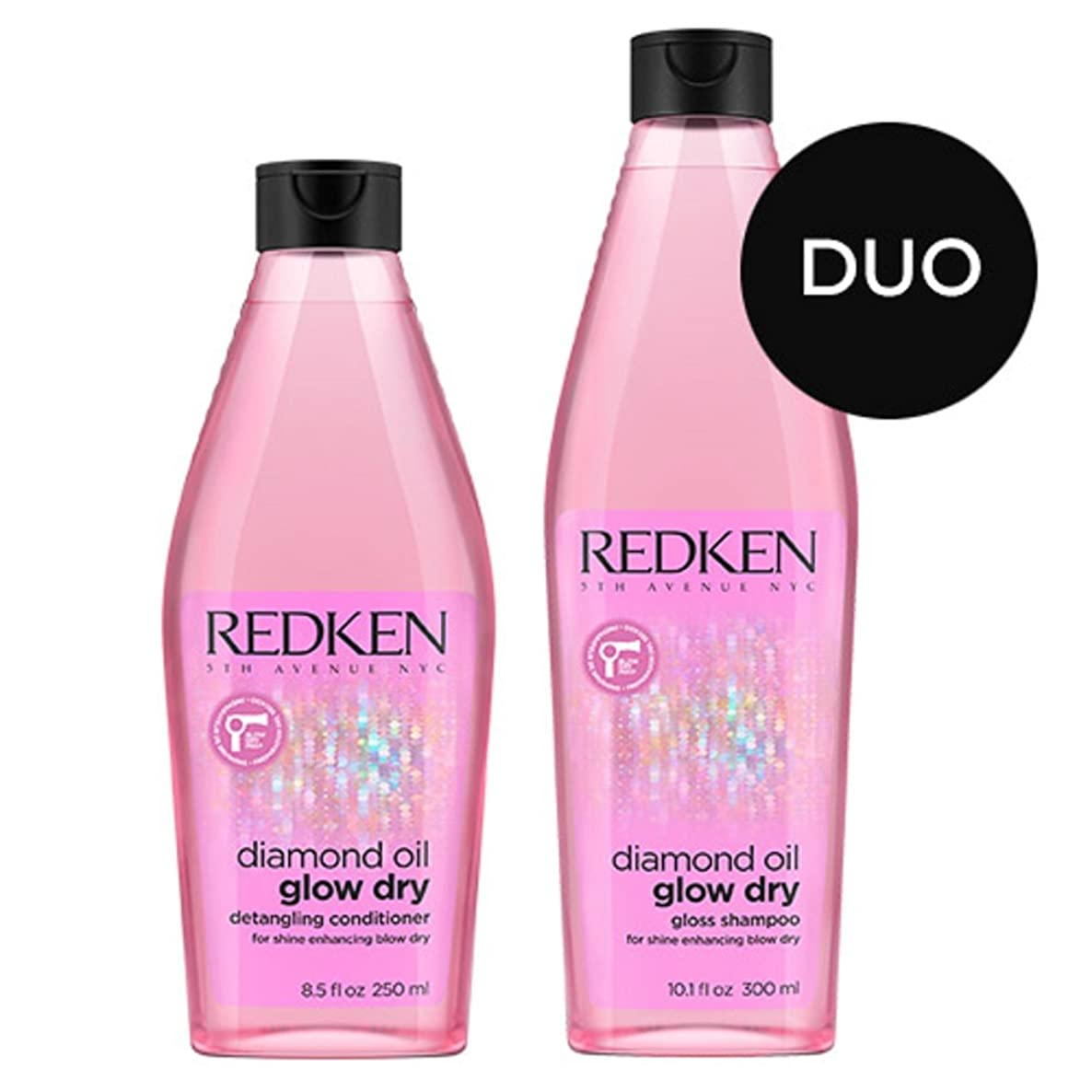 Redken Diamond Oil Shampoo 10.1 Ounce and High Shine Gel Conditioner 8.5 Ounce Set