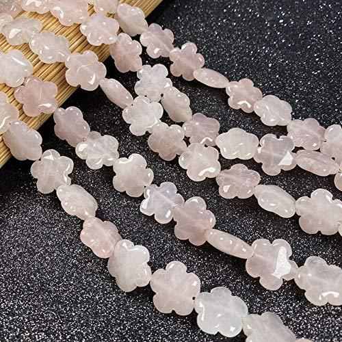 KEJI 16X16Mm Piedra Natural Cristal De Cuarzo Ágatas Turquesas Cuentas Forma De Flor Cuentas Sueltas para DIY Pulsera Collar Fabricación De Joyas