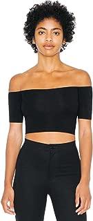 American Apparel Women Cotton Spandex Off-Shoulder Top