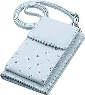 Apostasi Mini Crossbody Shoulder Bag, Flower Multi-Functional Phone Purse Small Handbag, Smartphone Wallet Purse with Removable Shoulder Strap for Women