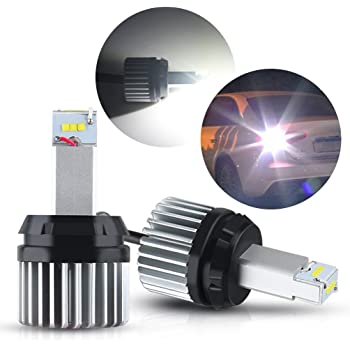 SOCAL-LED 2x BA15s 1156 LED Bulb COB 30W 3000LM Extremely Bright Reverse Light Back Up Bulbs 12V-24V 6000K Xenon White