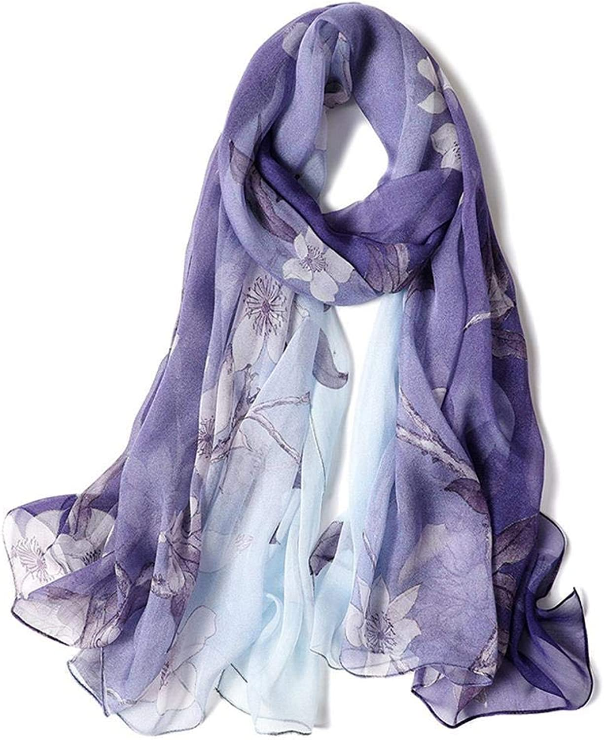 Dequanrong Lady Silk shawl Thin silk scarf send family friend Perfectly expresses unique temperament Fashion Scarf for Women