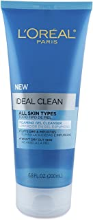 L'Oreal Paris Ideal Clean Foaming Gel Facial Cleanser, All Skin Types