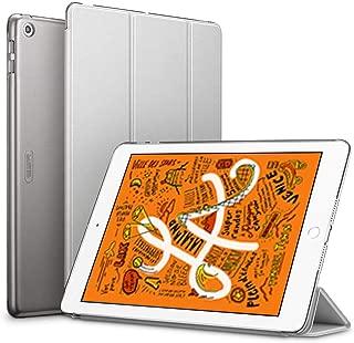 ESR iPad Mini 5 2019 ケース 軽量 薄型 PU レザー スマート カバー 耐衝撃 傷防止 クリア ハード 背面 ケース 三つ折り スタンド オートスリープ ウェイクアップ 機能 iPad Mini5(第五世代) 専用(グレー)