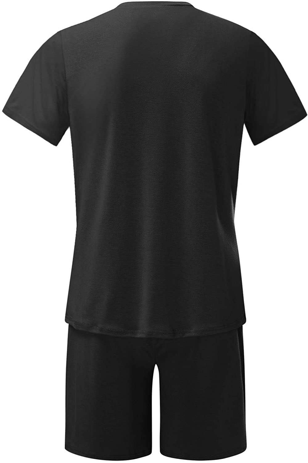 WOCACHI Mens Sports Set Plus Size, 2021 Summer Outfits 2 Piece Set T Shirts and Shorts Casual Sweatsuit Set Tracksuits