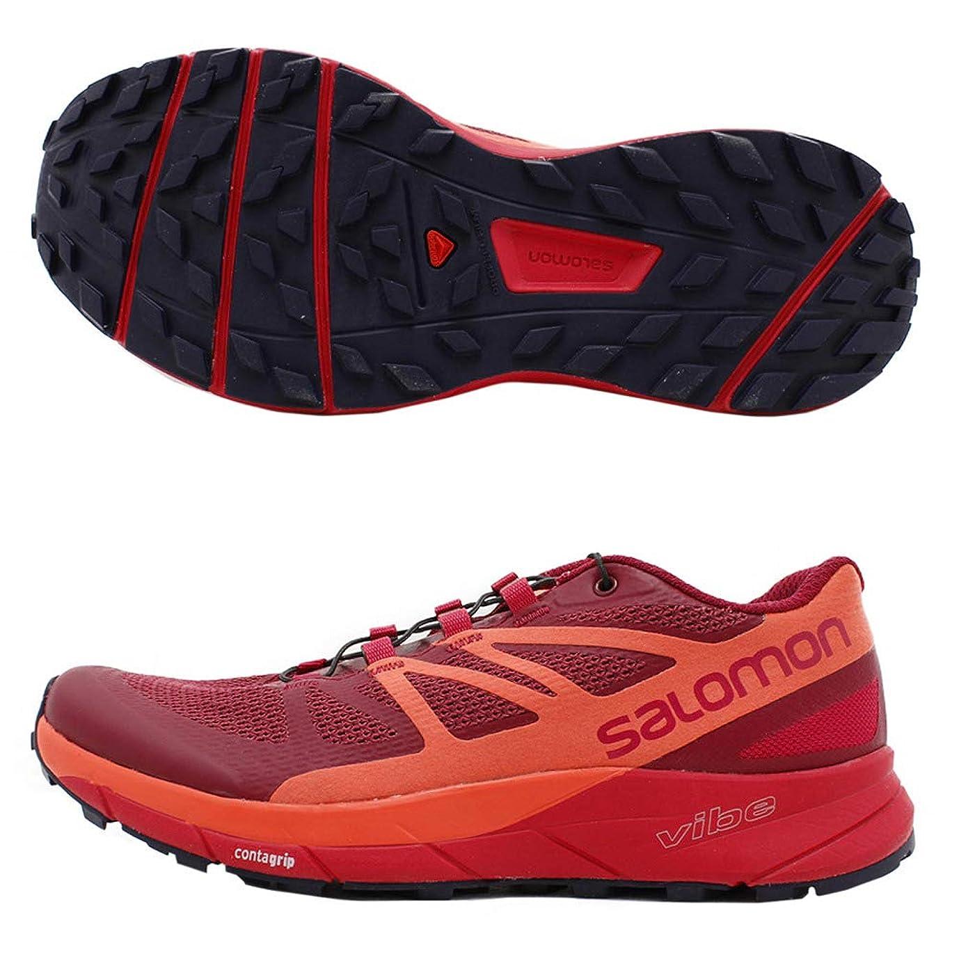 楽しむの間で反発する[サロモン] レディース 女性用 シューズ 靴 スニーカー 運動靴 Sense Ride - Sangria/Living Coral/Virtual Pink [並行輸入品]