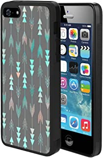 Linghan iPhone 5 5S SE Case Beautiful Arrows, Slim Lightweight Rectangle Full Body Shockproof Hard Plastic Protective Cellphone Case and Cover, Black Frame Case for iPhone 5 5S SE 1X