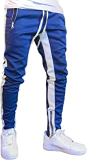 New men`s leather Sweat pants Designer Joggers Running Sports trousers Jogging