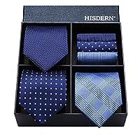 ヒスデン結婚式 青 ネクタイ 3本セット フォーマル ネクタイ ハンカチ メンズ ネクタイ セット ビジネス ネクタイ ブランド プレゼント 男性 洗える ネクタイ