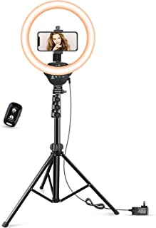 "12"" LED Ring Light with Stand and Phone Holder, Aureday 3000K-6000K Dimmable Selfie Ringlight for YouTube Video/Live Stream/Makeup"