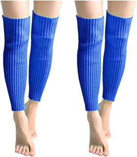 Black HighlifeS Knee High Cable Knit Warm Cotton Winter Sleeve Leg Warmers for Women