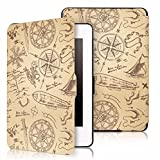 MOCA SmartShell Light Thin Protective PU Leather Flip Case Cover for Kindle Paperwhite