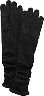 INC Womens Knit Ruched Winter Gloves Black O/S