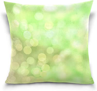 Amazon Com Eryued Blur Bokeh Out Of Focus Green Decorative Pillow Cover 18x18 Inch Throw Pillow Case Cushion Covers For Home Decor Design Home Kitchen
