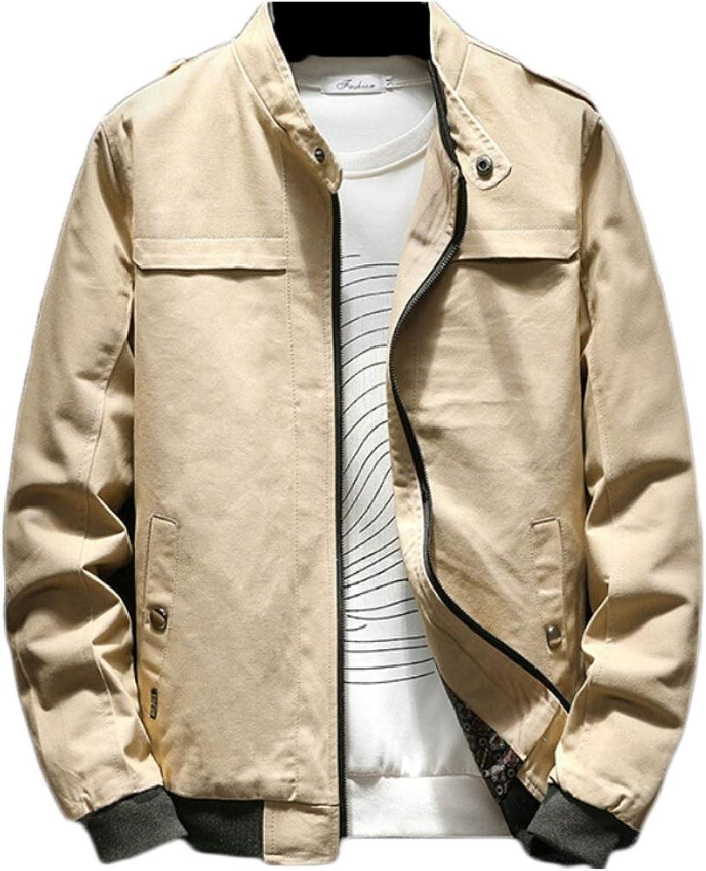 cfc89eaeeedb Gocgt Men Zip up Lightweight Bomber Jacket Jacket Jacket Windbreaker ...