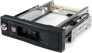 StarTech.com 5インチベイ内蔵型ハードディスクリムーバルケース トレイ/ケース不要 3.5インチSATA HDD専用モバイルラック ホットスワップ/プラグ&プレイ HSB100SATBK