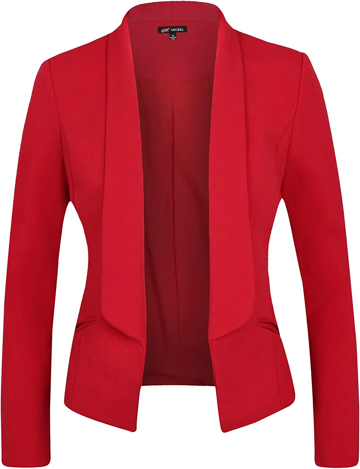 Michel Women Long Sleeve Casual Work wit Solid Blazer Color Knit Superlatite Max 72% OFF