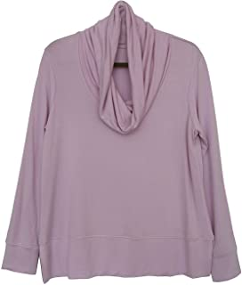 Green Tea Womens Long Sleeve Soft Loose Cowl Neck Top Sweater (Assorted Colors)
