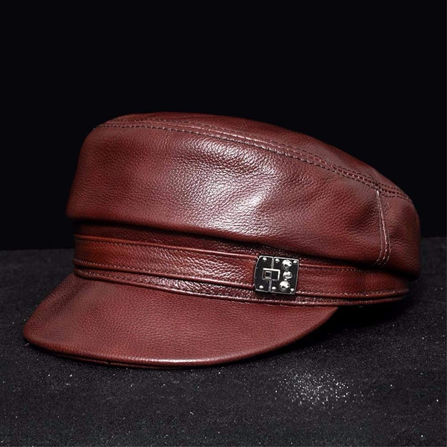10d910517c7489 Beach Hat Women Spring and Autumn Winter England Europe and The United  States Wind Leather hat