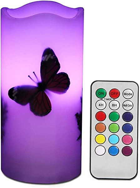 LED Candles Flameless Battery Operated With Remote Timer 6 Tealight Butterfly Plants Decor Real Wax Electric Candle Lights 12 Color Changing For Home Kitchen Indoor Outdoor Party