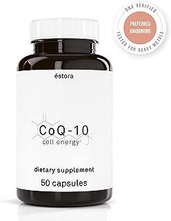 ESTORA Vegan CoQ10 Ubiquinone Supplement, Cell Energy (50 Vegetable Capsules)