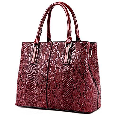 Frauen Weibliche Tasche Leder Handtaschen und Geldbörsen Damen Big Crossbody Taschen für Frauen Umhängetaschen Hand Sac A Main Femme Tote Rot