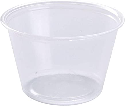 Disposable Souffle Portion Plastic Cups – 4 Oz Clear Food Storage Condiments Container,  Perfect for Sauces,  Dips,  Salsa or Other Food Samples (Pack of 200)