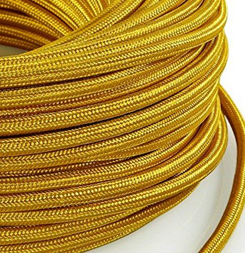 lampes Design abat jour C/âble /électrique en tissu rond Rond Style Vintage avec rev/êtement color/é Noir H03VV-F section 2/x 0,75/pour lustres Fabriqu/é en Italie