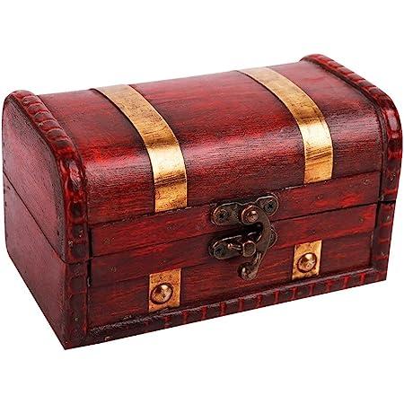 Amazon Com Waahome Pirate Treasure Boxes Small Wood Treasure Chest Keepsake Box For Kids Gift Home Decorations 5 5 X3 2 X3 2 Home Improvement