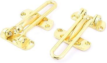 Veiligheid Deur Guard Lock Hardware 100mm Lengte Brass Tone 2 stks