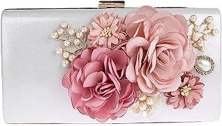 JOEupin Damen Handtasche Abend Clutch Tasche Blume Clutches Crossbody Geldbörse Abendtaschen