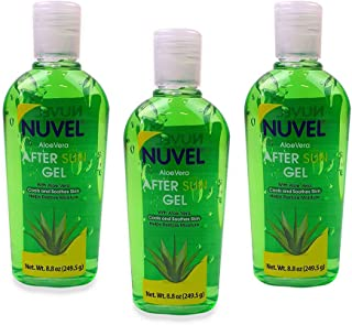 Nuvel, Aloe Vera After Sun Gel, Skin Care, 8.8oz Bottles - 3 Pack