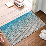 DaringOne Beach Clear Sea Sand Ocean Non-Slip Machine Washable Bathroom Kitchen Decor Rug Mat Welcome Doormat 23.6x15.7inch