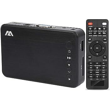 多功能便携式媒体播放器 HDMI / VGA 输出 OTG USB / / SD / AV / 电视 / Avi 格式 / RMVB 全高清支持1080P 高清画质播放多种输出