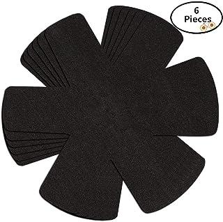Myonly - Protectores antiderrapantes para ollas y sartenes, Negro, 6