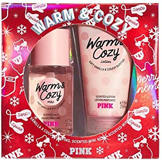 Victoria Secret NEW! WARM & COZY PINK MINI MIST & LOTION GIFT SET