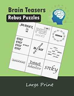 Brain Teasers Rebus Puzzles Large Print: Word Picture Puzzles Plexer Book Game