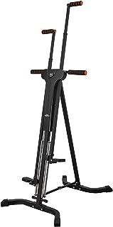 Máquina de Escalada Vertical Escaladora Climbing Machine Aparato de Ejercicios Entrenamiento Fitness Estructura Plegable Gimnasio Casa Quemar Grasa Definir los Músculos Stepper Cadio