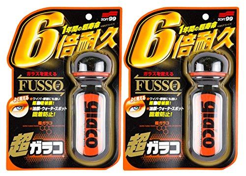 2x SOFT99 Ultra Glaco Scheibenversiegelung wasserabweisend Regenabweiser 70 ml