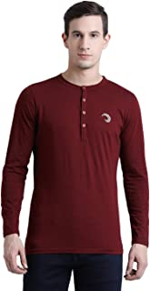 oneliner Men's Full Sleeves Cotton T-Shirts-(OLMFT50-2XL) Maroon