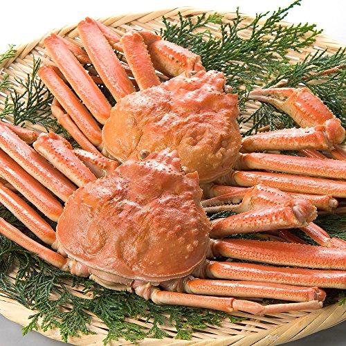 日本海市場 訳あり特上松葉ガニ(ズワイガニ)姿 小サイズ2枚(茹で800g前後)「本物」の松葉ガニを産地直送でお届けします 1落ち程度