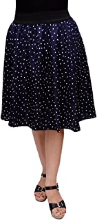 FabnFab Women's Crepe Skirt (GDS 2018-P, Blue)