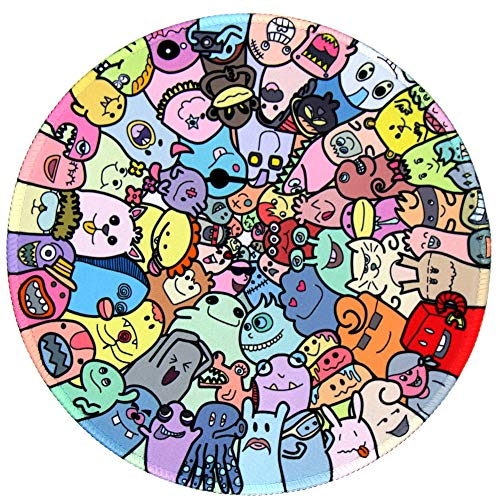 LOLEDE Mouse Pad, Round Mouse Pad, Monster Anti Slip Rubber Round...